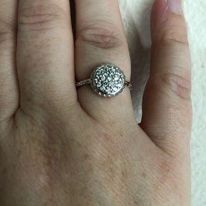 Beautiful 14kt White Gold and Diamond ring